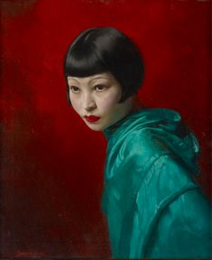 David Jagger 'Portrait of a Young Chinese Girl' 1936.