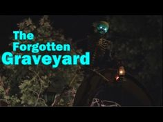 Hollywood Haunter Halloween Yard Haunt Display: Abandoned Cemetery: Night Time Walk Through - YouTube