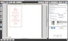 Prepping the design in Silhouette Studio