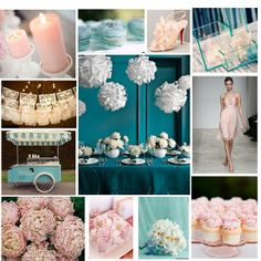 Go Be Do Wedding Wednesday Teal And Blush Pink Color Schemes