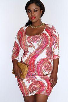 Plus Size Clubwear, Plus Size Mini Dresses, Elegant Dresses For Women, Plus Size Fashion For Women, Dress Backs, Paisley Print, Amazing Women, Womens Fashion, Sexy