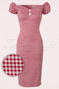 Collectif Clothing Dolores Picnic Dress Red White 100 27 14738 20150603 010V