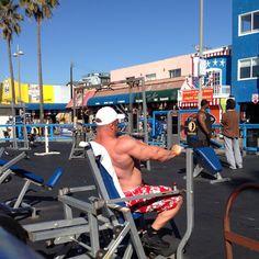 Building those muscles! | Venice Beach