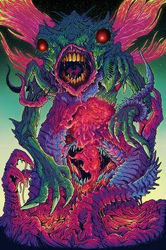 brock hofer art   Space Monsters, an art print by Brock Hofer - INPRNT