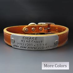 Create a one of a kind Custom Metallic LEATHER PUP Collar that is just as unique and special as your Dog.    This personalized Dog collar is