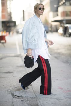 stylish ways wear track pants