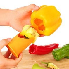 2PCS Cutter Corer Slicer Tools Pepper Tomato Huller Vegetables Nuclear Corers Stalks Fruit Knife Kitchen Utensil Gadget #Affiliate