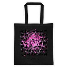 Pink Goldie - Black Canvas Tote