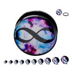Gauge Kit, Halloween Fashion, Black Acrylics, Body Jewelry, Plugs, Infinity, Jewelery, Jewelries, Piercing