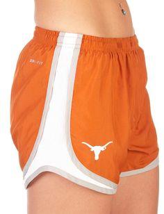 Texas (UT) Longhorns Women's Burnt Orange Logo Shorts http://www.rallyhouse.com/nike-texas-longhorns-womens-orange-tempo-shorts-12511213?utm_source=pinterest&utm_medium=social&utm_campaign=Pinterest-TexasLonghorns $34.00