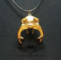 Hirschkäfer, Käfer, Vergoldet, Gold, Anhänger, Unikat, Neu,24 Karat, Handarbeit