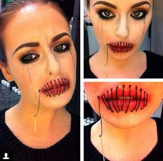 Scary halloween makeup tutorials scary halloween makeup makeup 33 totally creepy makeup looks to try this halloween solutioingenieria Images