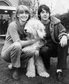 Beatles Girlfriends | Jane & Paul with their sheepdog, Martha. She was born in 1966 and died ...