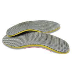 IMC Cómodo Zapatos Ortopédicos Plantillas Inserta Alta Arch Support Pad (S) amarillo + Gris