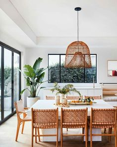 Exclusive: Inside Garance Doré's L. Home Where Terra Cotta Hues Steal the S. - - Exclusive: Inside Garance Doré's L. Home Where Terra Cotta Hues Steal the Show Dining Room Inspiration, Home Decor Inspiration, Sweet Home, Los Angeles Homes, Dining Room Design, Dining Rooms, Modern Dining Room Chairs, Chairs For Dining Table, Beach Dining Room