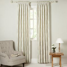 Buy John Lewis Croft Collection Catkin Lined Pencil Pleat Curtains - John lewis curtains grey