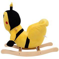 Qaba Kids Plush Rocking Horse-Style Bumble Bee Theme Chair