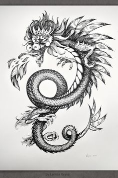 Dragons by Larissa Gryva, via Behance