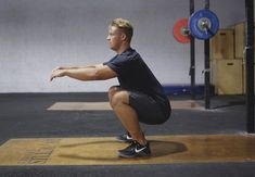 Proper squat mechanics start with two basic rules – keep your heels down and your chest up. Once an athlete has mastered the fundamentals, they can progress to more advanced squats to continue building strength.