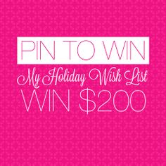 Pin your holiday wish list for a chance to win a $200 TEMPTU.com e-Gift Card! To enter, visit http://temptu.cc/pintowin #TEMPTU #pintowin #contest #giveaway #wishlist