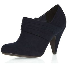 Dorothy Perkins Navy 'lockie' shoe boots ($54) ❤ liked on Polyvore featuring shoes, boots, ankle booties, blue, navy blue booties, dorothy perkins, blue booties, blue boots and navy booties