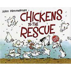 Hilarious! That's the only way to describe this book. Who knew chickens were so resourceful! With minimal text, the illustrations tell the story, and what a story it is. When Farmer Greenstalk drops his watch down the well, all the chickens, decked out in swimsuits, come to the rescue with fishing poles and diving gear. When the dog eats Jeffrey Greenstalk's book report, the feathers start to fly as the chickens get to work researching, typing, printing, and painting to get the job done in…
