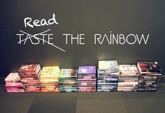 Read the Rainbow - color based book display for the library Teen Library Displays, Library Themes, School Displays, Library Ideas, Library Decorations, Library Work, Library Activities, Middle School Libraries, Elementary Library