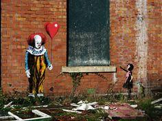 Pennywise street art - It graffiti steven king