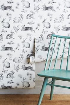 Slide View: 2: Toile Lapin Wallpaper