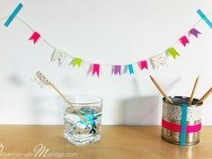 Guirlande mélangeur pot à crayons masking tape