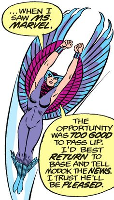 Deathbird of the Shi'ar (X-Men enemy) (classic Marvel Comics) soaring. From http://www.writeups.org/deathbird-shiar-x-men-marvel-comics-classic/