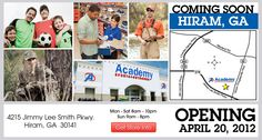 Academy Sports + Outdoors in Hiram, GA opens on April 20th