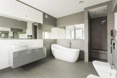 baño azulejos grises