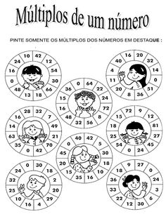 Rosearts- Atividades para imprimir: matemática do 2º ao 5º ano para imprimir Primary Teaching, Teaching Tips, Bulgarian Language, Kids Study, Multiplication And Division, Basic Math, Math For Kids, Letters And Numbers, Math Games