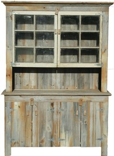 This is a two piece hut that you can buy but I figured this could be inspiration for a pallet hutch :)