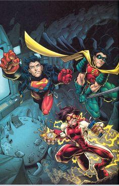 Justiça Jovem: Superboy, Robin & Impulso.