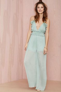 Alice McCall White Noise Chiffon Jumpsuit | Shop Rompers + Jumpsuits at Nasty Gal