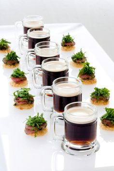 Beef & Beer Paired Hors D'Oeuvres by Peter Callahan - Catering & Events (Photo by Ross Whitaker)