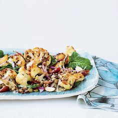 Roasted Cauliflower Salad with Lentils and Dates   Food & Wine