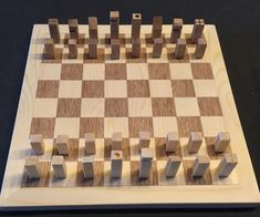 Chess Set From Wood