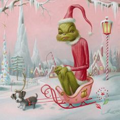 Mark Ryden Christmas Worm... doesn't quite look like a Boston--but still really cute!