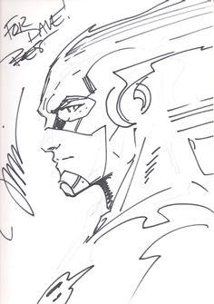 The Flash - Jim Lee Comic Art