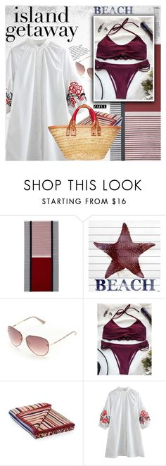 """Chic Island Getaway"" by vanjazivadinovic ❤ liked on Polyvore featuring Tommy Hilfiger, Marmont Hill, Tahari, Paul Smith, Balenciaga, polyvoreeditorial, islandgetaway and zaful"