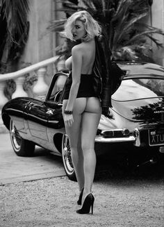 Anabelle and Jaguar e type - www.you-drive.cc