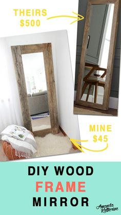 DIY MIRROR : DIY Rustic Wood Frame Mirror