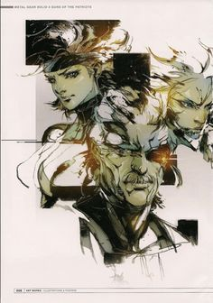 Yoji Shinkawa - The Art of Metal Gear Solid 4 | Madeleine Lilu Emelin___©___!!!!
