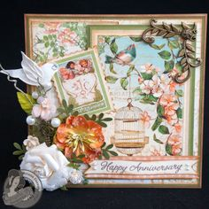 *Graphic 45* Secret Garden Anniversary Card - Scrapbook.com