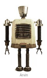 The master and originator of building robots out of upcycled items.http://pinterest.com/GadgetSponge/