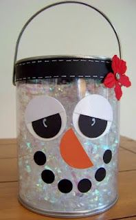 Blooming Where I'm Planted.: Snowman Paint Cans Chrismas Crafts For Kids, Country Christmas Crafts, All Things Christmas, Christmas Time, Christmas Ideas, Classroom Treats, Craft Show Ideas, Paint Cans, Christmas Inspiration