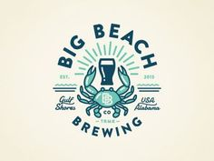 Resultado de imagem para brewing project co logo beaches Vintage Logos, Logo Inspiration, Beach Logo, Surf Logo, Badge Logo, Badge Design, Creative Logo, Logo Branding, 3 Logo